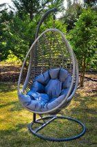 Függő szék szürke párnával, BELLISIMO SET