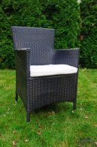 Kerti szék, fekete, CAPITALE SET része