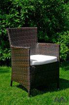 Kerti szék, sötét barna, GUSTOSO SET része