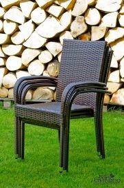 Kerti szék, sötétbarna, Avvicente, DOU és Sottile SET része