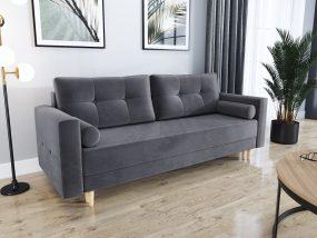 Largo02 kanapé ágyfunkcióval sötét szürke