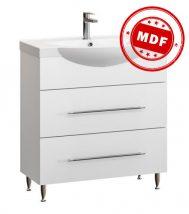 Fidelia fürdőszobai alsószekrény mosdóval 80 cm fehér
