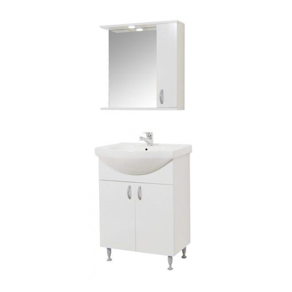 Bazena55 III NEW fürdőszoba bútor szett mosdóval, Oglio 50 tükrös polccal