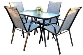 Solano 4 személyes kerti bútorszett szürke