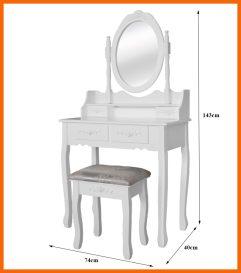 VICTORIA díszített sminkasztal+szék fehér