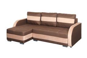 Cordoba CO02 Ággyá alakítható sarok ülőgarnitúra, erősített rugókkal Barna - Krém