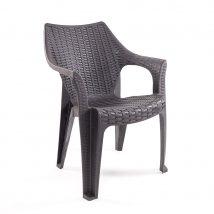 Tavira rattan hatású kerti szék Antracit