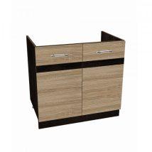 Salandra Elemes konyha 2 ajtós mosogató alatti szekrény DARK SONOMA