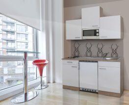 Hagen150 konyhabútor 150cm-es Sonoma - Fehér egymedencés csepegtetős mosogatótálcával