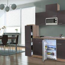 Hagen 180 cm-es konyhabútor egyrészes kamraszekrénnyel Sonoma - Antracit