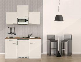 Hagen150 konyhabútor 150cm-es Fehér - Fehér egymedencés csepegtetős mosogatótálcával