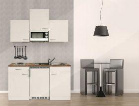 Hagen150 konyhabútor Fehér - Fehér 150cm-es, egymedencés mosogatótálcával