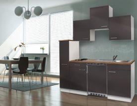 Hagen 180 cm-es konyhabútor egyrészes kamraszekrénnyel Fehér - Antracit