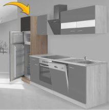 Hagen60 Beépíhető közepes hűtősszekrény 200cm magas Sonoma - Antracit