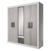 Helios 21 5 ajtós Gardrób szekrény Kathult/fehér/szürke