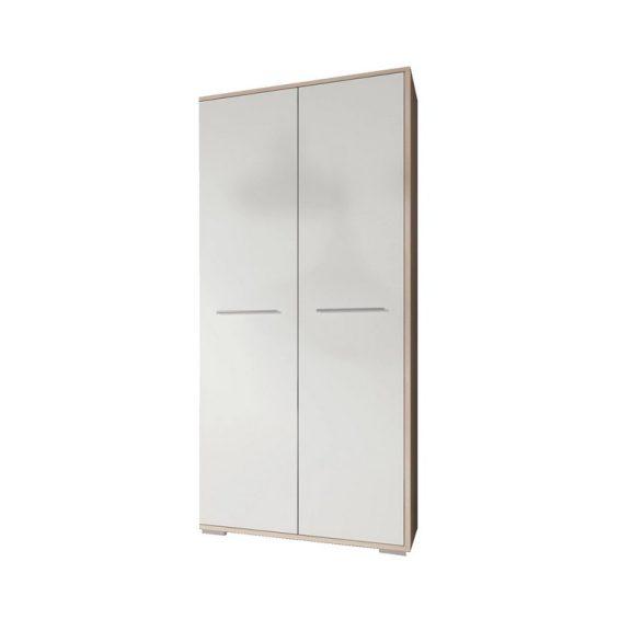 Frida Kétajtós gardrób szekrény sonoma/fehér