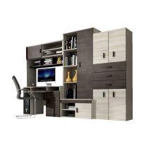 Nelly bútor szett íróasztallal kőris/ezüst tölgy
