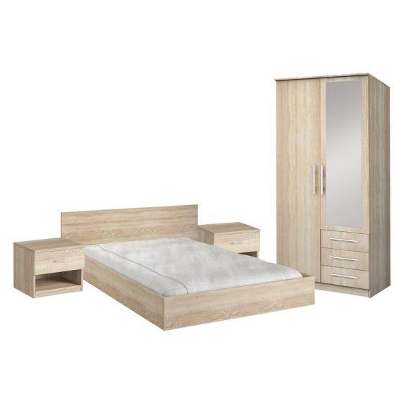 Szantal hálószoba bútor szett 2 ajtós gardróbbal - sonoma