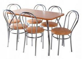 Nizza 6 személyes étkezőszett Calvados 120 x 70, 6 étkezőszékkel