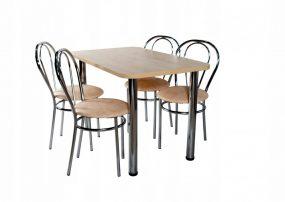 Nizza 4 személyes étkezőszett 100 x55cm, Sonoma 4 étkezőszékkel