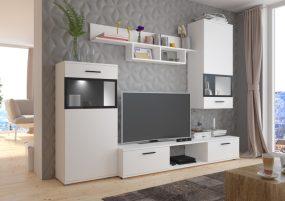 Solange 02 Nappali szekrénysor Fehér
