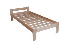 Sallim borovi fenyő ágykeret ágyráccsal 90x200 cm