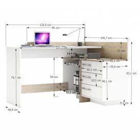 ADI NEW Sarok számítógép asztal jobbos-balos kivitelben