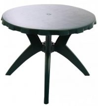 Genova II NEW kerek kerti asztal zöld