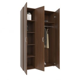 USI Gardrob szekrény 3 ajtos WENGE