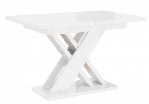 Saxo bővíthető étkezőasztal 4-6 személyes magasfényű fehér