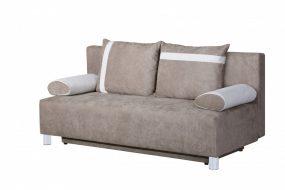 Marebello 02 ágyfunkciós rugós ágyneműtartós kanapé, Mogyoró - krém