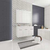 FLY 2 Fürdőszoba szett Fehér HG 258+262+L