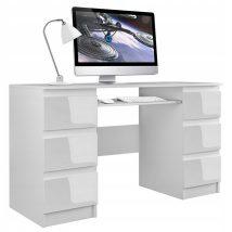 Berga Számítógép asztal - magasfényű fehér