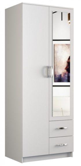 Miranda 80 2 ajtós gardrób - fehér
