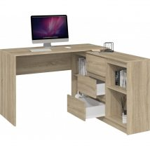 Nardin Plus Sarok számítógépasztal 3 fiókkal sonoma