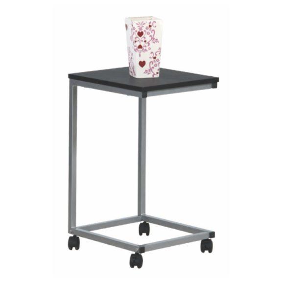 Kisasztal, fekete/fém ezüst, MANNY