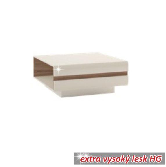 Dohányzóasztal, fehér extra magas fényű HG/trufla sonoma tölgy, LYNATET  70