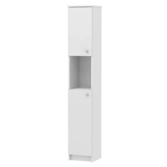 Magas fürdőszobai szekrény, fehér, GALENA SI14