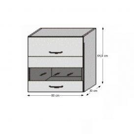 Felső polcos konyhaszekrény, rigolletto dark/rigolletto light/wenge,, JURA NEW I OGW1-80