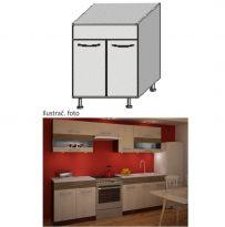 Mosogató konyhaszekrény,rigolletto light/rigolletto dark/wenge, JURA NEW IA DZ-80