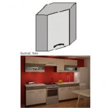 Felső sarok konyhaszekrény,rigolletto light/rigolletto dark/wenge, JURA NEW IA GN-58*58