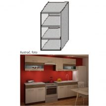 Felső polcos konyhaszekrény, rigolletto light/rigolletto dark/wenge, JURA NEW IA GO-30 - Kiárusítás
