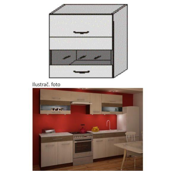 Felső konyhaszekrény, rigolletto light/rigolletto dark/wenge, JURA NEW IA GW1-80