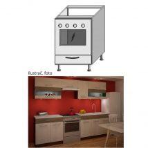 Alsó szekrény sütőhöz, rigolletto dark/rigolletto light/wenge JURA NEW IA ZK-60 K1