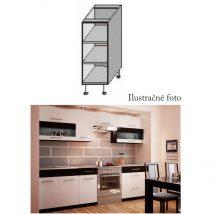 Alsó szekrény polcokkal, fehér/wenge, JURA NEW B DO-20