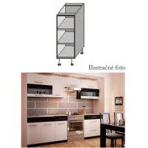 Alsó szekrény, fehér/wenge, JURA NEW B DO-20