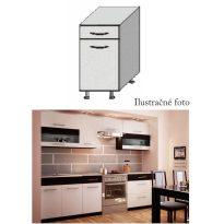 Alsó szekrény, fehér/wenge, JURA NEW B D-40 S1