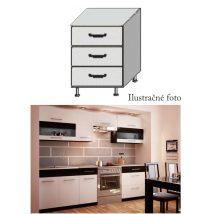 Alsó fiókos szekrény, fehér/wenge, JURA NEW B D-80 S3