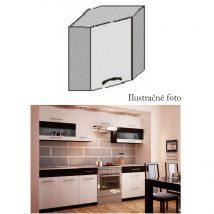 Felső sarok szekrény, fehér/venge, JURA NEW B GN-58*58