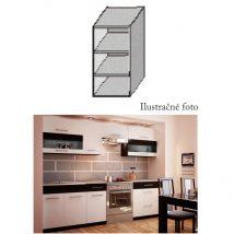 Fali szekrény, fehér/wenge, JURA NEW B GO-20